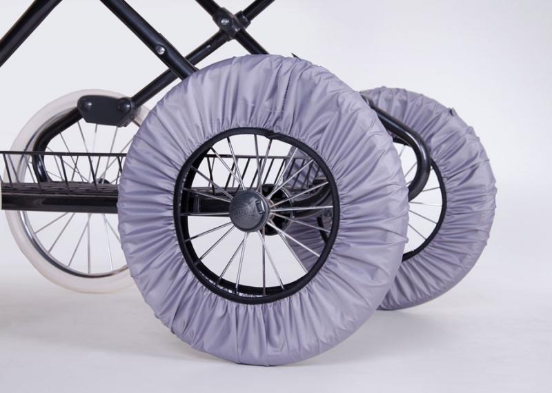 Чехлы на колеса трехколесной коляски - защита от грязи 29-37см