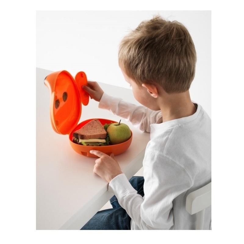 Контейнер для завтрака IKEA Smaska 201.604.03 (коричневая собака)
