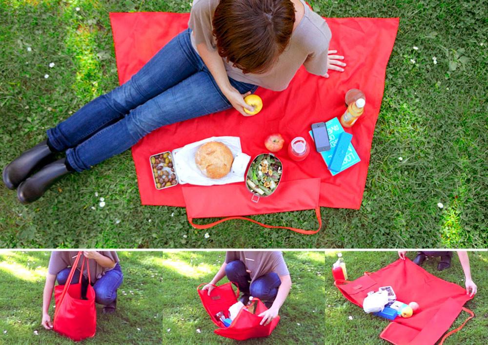 Сумка подстилка на пикник Baby Safety SPH01 (красный)