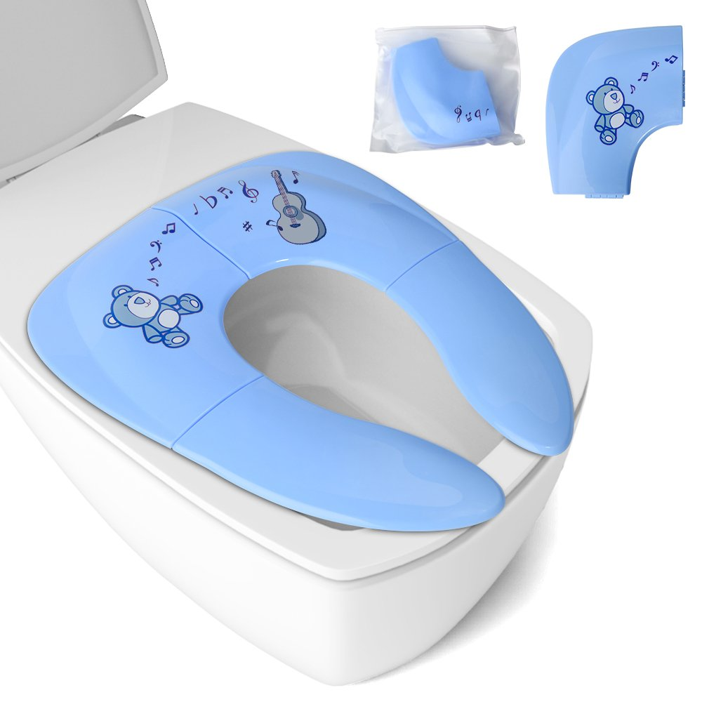 Мобильная накладка на унитаз Fabe L018 (голубая)