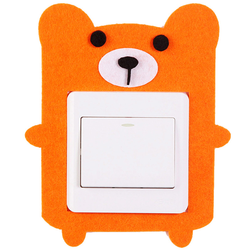 Декоративная накладка на выключатель Chilian RD900-OB (оранжевый медведь)