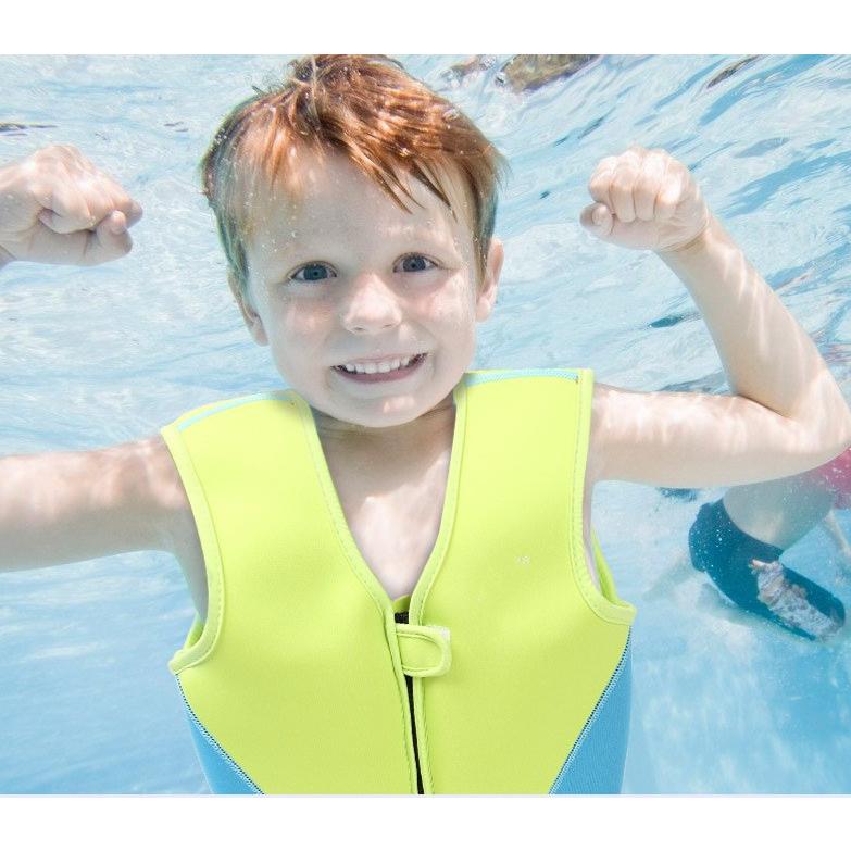 Детский жилет для плавания BabyBBZ URR210 (салатный с голубым)