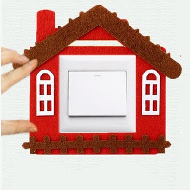Декоративная накладка на выключатель Chilian RD900-RBH (красно-коричневый дом)