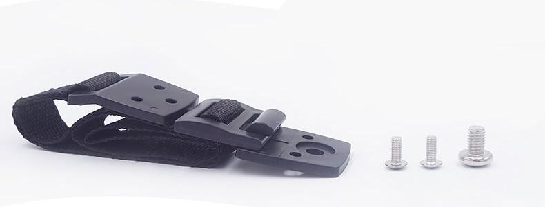 Универсальное крепление на мебель и технику от опрокидывания на шурупах Little bean черный 2 шт