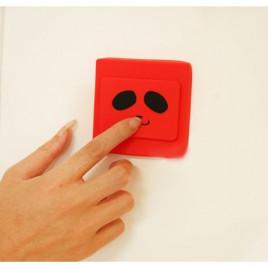 Защитная накладка на выключатель Shiny KG033 (8.5 * 8,5 см) - красная