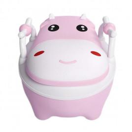 Горшок с мягким сиденьем Baby Legend VLY-02 (бегемот розовый)