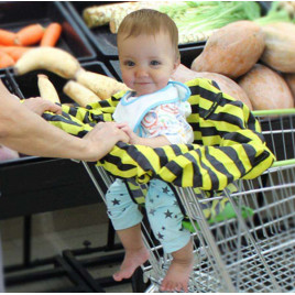 Корзина-чехол для малыша Bee Baby Safety BBY01 (черно-желтый)