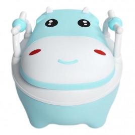 Горшок с мягким сиденьем Baby Legend VLY-01 (бегемот голубой)