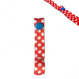 Держатель игрушек и пустышек Lemommon SIP-827 (красная в белый горох)