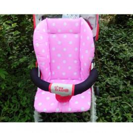 Защитное покрытие в коляску Baby Stroller N-D9 (розовое в белый горох)
