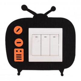 Декоративная накладка на выключатель Chilian RD900-BTV (черная рамка-телевизор)
