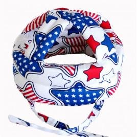 Защитный шлем Boilezi AO2 (белый с разноцветными звездами)