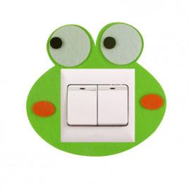 Декоративная накладка на выключатель Chilian RD900-GF (зеленый лягушонок)