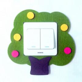 Декоративная накладка на выключатель Chilian RD900-GT (зеленое дерево)