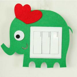 Декоративная накладка на выключатель Chilian RD900-GE (зеленый слон)