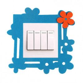 Декоративная накладка на выключатель Chilian RD900-BR (голубая фигурная рамка)