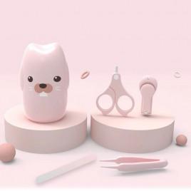 Набор детских инструментов для ухода в футляре Кролик Little Bean LBPR-730 (розовый)