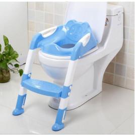 Накладка на унитаз с лесенкой 2 в 1 Baby Assistant DA-6813 (голубой с белым)