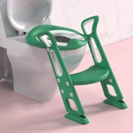 Накладка на унитаз с лесенкой Color Songni AX-S424 (зеленый с белым)