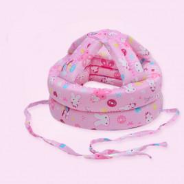 Защитный шлем Boilezi AO5 (розовый с зайцами)