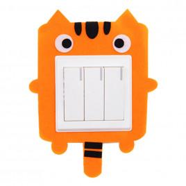 Декоративная накладка на выключатель Chilian RD900-OT (оранжевый тигренок)