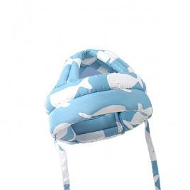 Защитный шлем Boilezi AP021 (голубой с белыми китами)
