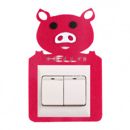 Декоративная накладка на выключатель Chilian RD900-PP (розовый поросенок)
