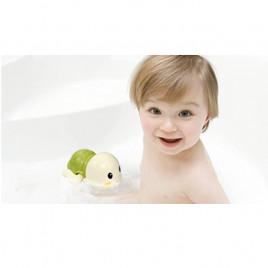 Заводная игрушка для ванной Черепашка Anbebe ST190-BG (бежевая с зеленым панцирем)