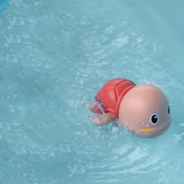 Заводная игрушка для ванной Черепашка Anbebe ST190-R (красный)