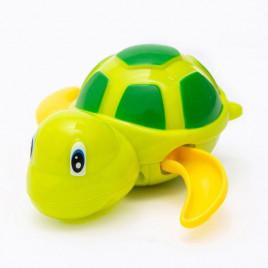 Заводная игрушка для ванной Черепаха Anbebe BT200-GY (зеленая с желтыми ластами)