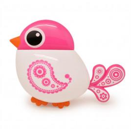 Держатель для зубных щёток настенный UKC Baby Play в форме птички на трёх присосках Розовый (00196)