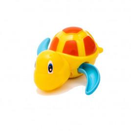 Заводная игрушка для ванной Черепаха Anbebe BT200-YB (желтая с голубыми ластами)
