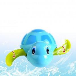 Заводная игрушка для ванной Черепаха Anbebe BT200-B (голубая с зелеными ластами)