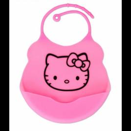 Силиконовый слюнявчик с карманом Kiddy Розовый Hello Kitty (02101)