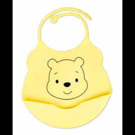 Силиконовый слюнявчик с карманом Kiddy Винни Пух Желтый 02102